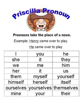 Priscilla Pronoun Help - Western Theme!