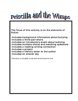 Short Story- Priscilla and the Wimps