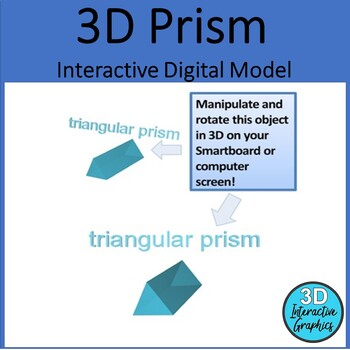 Prism- 3D Shape for Whiteboards and Smartboards