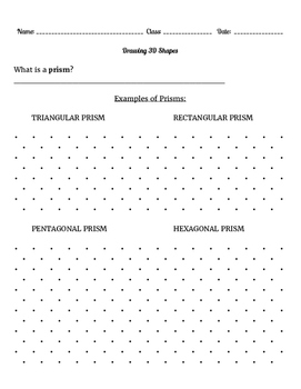 Prism: Drawing, Introduction to Volume and Surface Area
