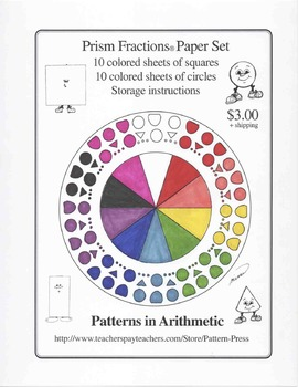 Prism Fractions Paper Set - Squares and Circles