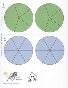 Prism Fractions® Paper Set - Circles - Colored Set