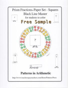 Prism Fractions® Paper Set - Squares - Black Line Master