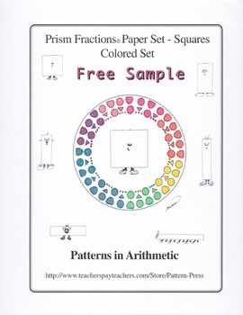 Prism Fractions® Paper Set - Squares - Colored Set