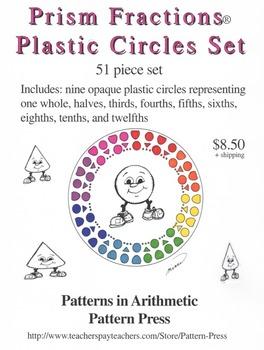 Prism Fractions® Plastic Circles Set