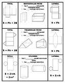 Prism and Cylinder Surface Area Foldable