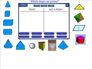 Prism or Not? An Interactive Smartboard Sorting Activity