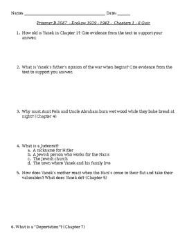 Prisoner B-3087 Chapter 1-8 Quiz