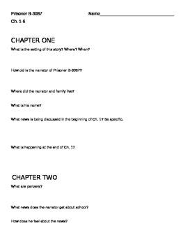 Prisoner B-3087 Chapters 1-6