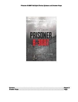 Prisoner B-3087 Multiple Choice Quizzes for all Chapters