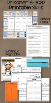 Prisoner B-3087 Novel Study: vocabulary, comprehension, writing, skills