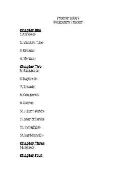 Prisoner B-3087 Vocabulary Tracker