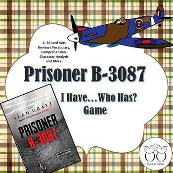 Prisoner B-3087 Novel Activity Game