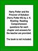 Prisoner of Azkaban Harry Potter Book 3
