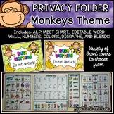 Privacy Folder {Includes EDITABLE WORD WALL, Alphabet Chart} MONKEYSTheme