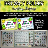 Privacy Folder {Includes EDITABLE WORD WALL and Alphabet C
