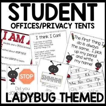 Privacy Tent (Lady bug themed)