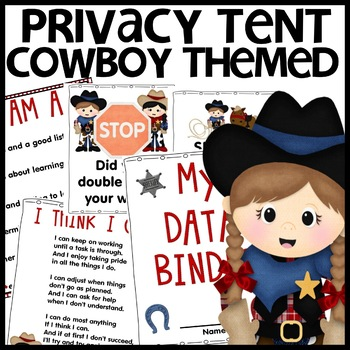 Cowboy Themed Privacy Tents