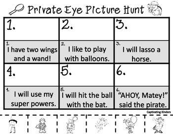 Private Eye Picture Hunt