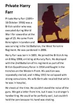 Private Harry Farr Handout