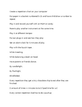 Private Lesson - Ways to Get Your Child to Repeat Music