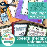 Speech and Language Therapy Language Notebooks w/ WH Questions Activities