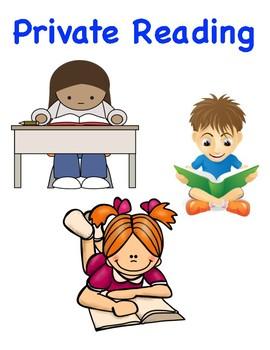 Private Partner Reading Sign for Reading Workshop