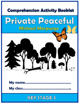 Private Peaceful Comprehension Activities Booklet!