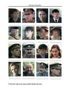Private Peaceful Movie (2012) - Character Matching Exercise