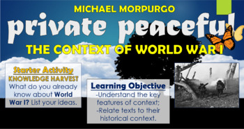 Private Peaceful - The Context of World War I