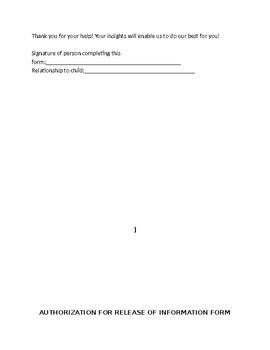Private Practice New Patient Paperwork