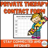 Private Therapy Contact Form