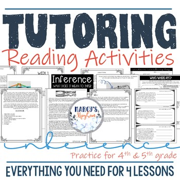 Private Tutoring Packet: Reading Activities for Inference 4th grade & 5th  grade