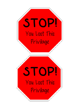 Privilege Lost Signs