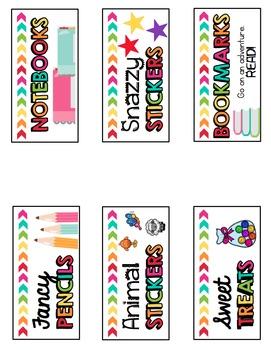 Prize Box Labels