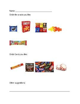 Prize Preference Assessment