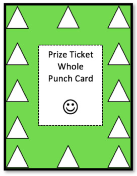 Prize Ticket Whole Punch Card