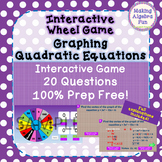 Prize Wheel Carnival Game Algebra Graphing Quadratic Equations