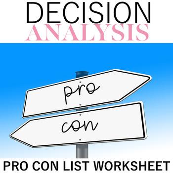 Pro Con Decision Analysis
