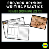 Pro/Con, Differentiated Opinion Writing Practice: Bearded Dragons