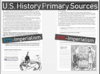 Pro-Imperialism vs. Anti-Imperialism using primary source
