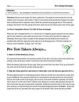 Pro Test-Taking Strategies