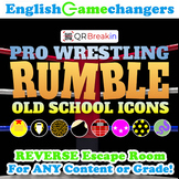 Pro Wrestling RUMBLE: Old School Icons REVERSE Escape Room!