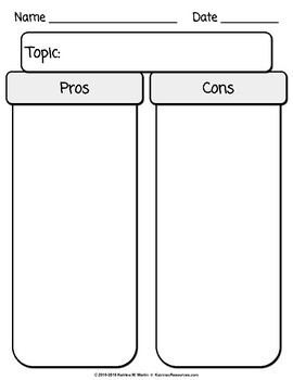 Pros and Cons Charts