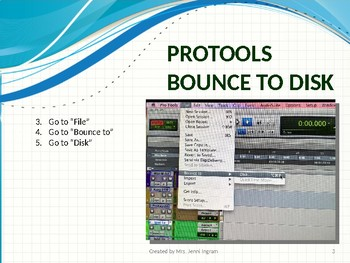 ProTools - Bounce to Disk & Burn to CD