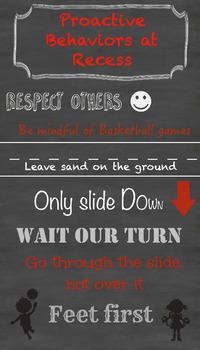 Proactive Behaviors at Recess Poster