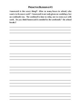 Proactive Blogging - 10 Blogging Scenarios