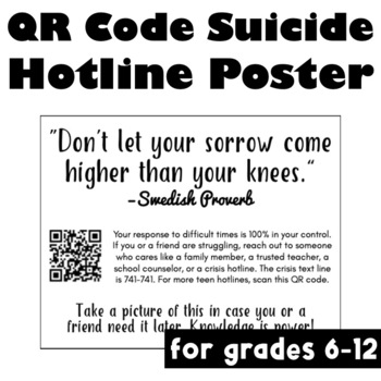 Proactive Hotline Poster for Suicide Awareness: In Response to 13 Reasons Why