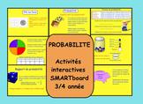 Probabilité 4e année SMARTboard interactif French Immersion