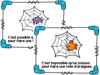 Probabilité:  Probability Themed Emergent Reader in French (C'est possible!)